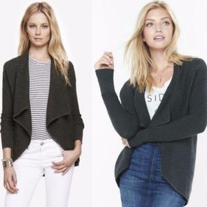 EXPRESS Ribbed Cascading Front Cover-up Cardigan